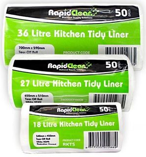 RAPID KITCHEN TIDY ROLL MEDIUM WHITE 27 LT