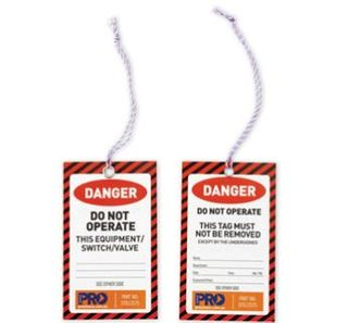 SAFETY TAGS RED DANGE 100PK 125mm x 75mm