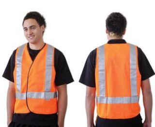 FLUORO ORANGE H BACK SAFETY VEST LARGE