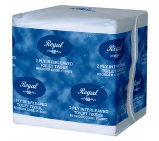 REGAL RECYCLED INTERLEAVED TOILET TISSUE 2 PLY
