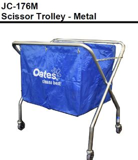 OATES METAL SCISSOR TROLLEY