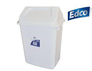 EDCO SWING TOP TIDY 30L  WHITE