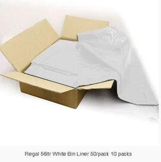 REGAL BIN LINER WHITE 56LT