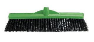 OATES INDUSTRIAL EXTRA STIFF POLY BROOM GREEN 450mm