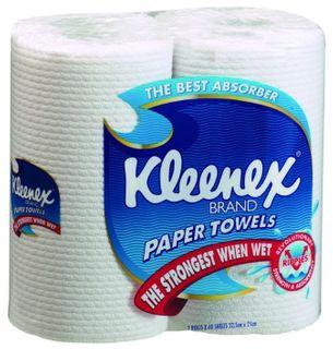 KLEENEX ROLL TOWEL KITCHEN  WHITE 60 SHEETS PER ROLL X 6 TWIN ROLLS PER CTN