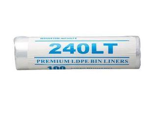 PREMIUM CLEAR BIN LINER STAR SEAL 240LT ROLL