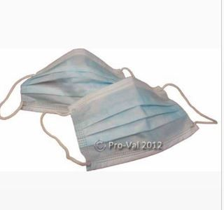 FACE MASKS WITH EAR LOOPS LIGHT BLUE 50PK