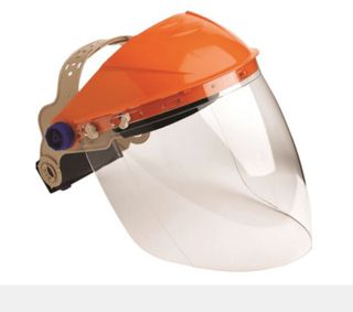 ASSEMBLED BROWGUARD WITH CLEAR ECONOMY VISOR