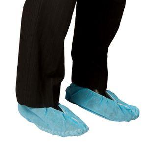 BASTION POLYPROPYLENE SHOE COVERS, NON SLIP SOLE, BLUE PK OF 100