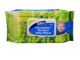 EDCO CHEEKY BAMBOO BABY WIPES 80PK