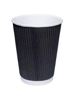 CUP RIPPLE WRAP 8OZ BLACK 25x40