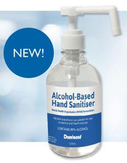 DOMINANT WHO ALCOHOL BASED HAND SANITISER 500ML