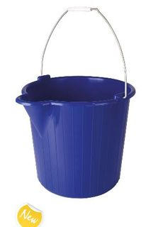 OATES HEAVY DUTY BUCKET PLASTIC BLUE 12LT