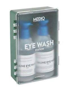 MEDIQ EYEWASH STATION ENCLOSED PLASTIC CABINET