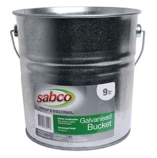 9L GALVANISED BUCKET WITH WIRE HANDLE