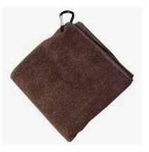 CAFETTO MICROFIBRE CLEANING CLOTH CLIP CLOTH BROWN