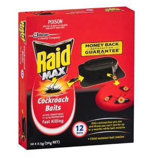 RAID COCKROACH BAITS 12PK