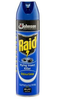 RAID FLYING INSECT KILLER ODOURLESS AEROSOL 400G