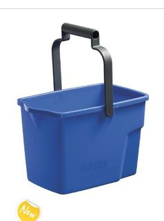 OATES GENERAL PURPOSE BUCKET PLASTIC 9 LT BLUE