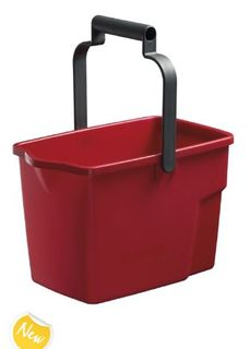 OATES GENERAL PURPOSE BUCKET PLASTIC 9 LT RED