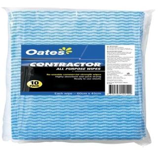 OATES CONTRACTOR ALL PURPOPSE WIPES 10PK  60 x 45cm