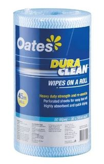 OATES DURACLEAN WIPES ON A ROLL 45MT BLUE