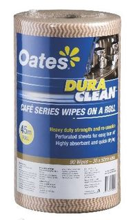 OATES DURACLEAN WIPES ON A ROLL 45MT COFFEE