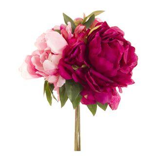 Peony Bouquet Mixed 30cm Fuchsia & Pink