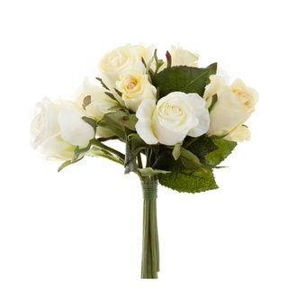 Rose Bouquet 23cm Cream & White
