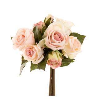 Rose Bouquet 23cm Pink & Cream