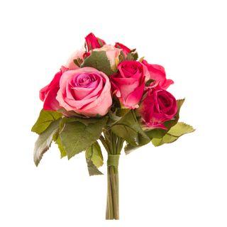 Rose Bouquet 23cm Pink