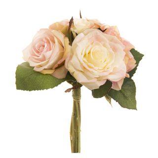 Rose & Hydrangea Mix Bouquet 27cm Light Pink
