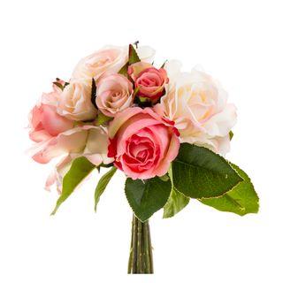 Rose Mix Bouquet 23cm Light Pink