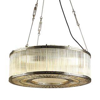 Verre Glass Ring Ceiling Pendant Nickel