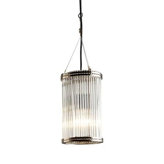 Verre Glass Ceiling Pendant Small Nickel