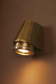 Seaman Outdoor Wall Light Antique Brass
