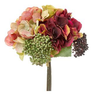 Rose Hydrangea Bouquet 28cm Pink & Green