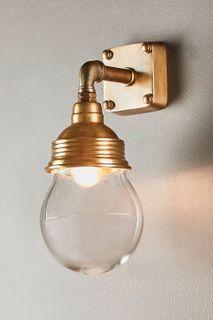 Dover Outdoor Wall Light Antique Brass