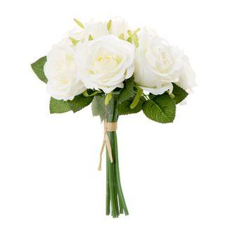Rose Bouquet 25cm White