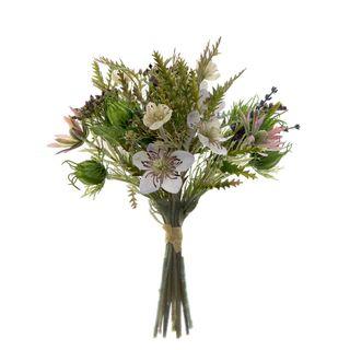 Lavender Mix Bouquet 30cm Green