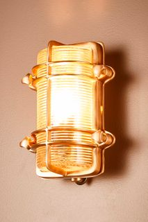 Harley Outdoor Wall Light Antique Brass