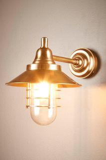 Clark Outdoor Wall Light Antique Brass
