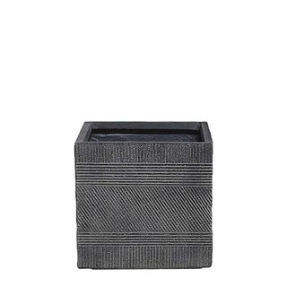 Vetro Square Ridged Pot Small