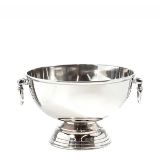 Round Footed Ice Bucket Nickel
