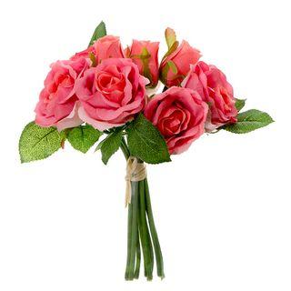 Rose Bouquet 25cm Pink