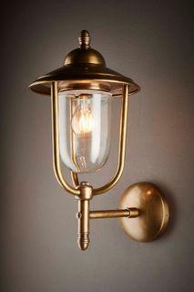 Pier Outdoor Wall Light Antique Brass