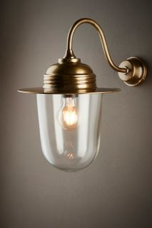Stanmore Outdoor Wall Light Antique Brass
