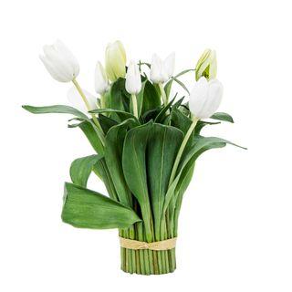 Tulip Bundle Wrapped 40cm White