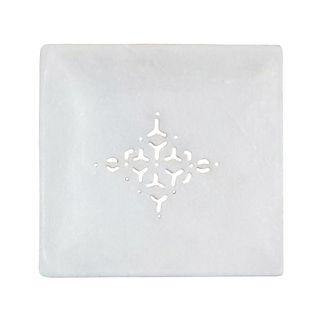 Jaipur Marble Grill Soap Dish Large White