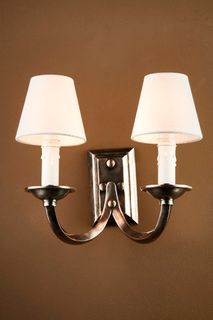 Elysee Two Ams Wall Lamp in Antique Silver